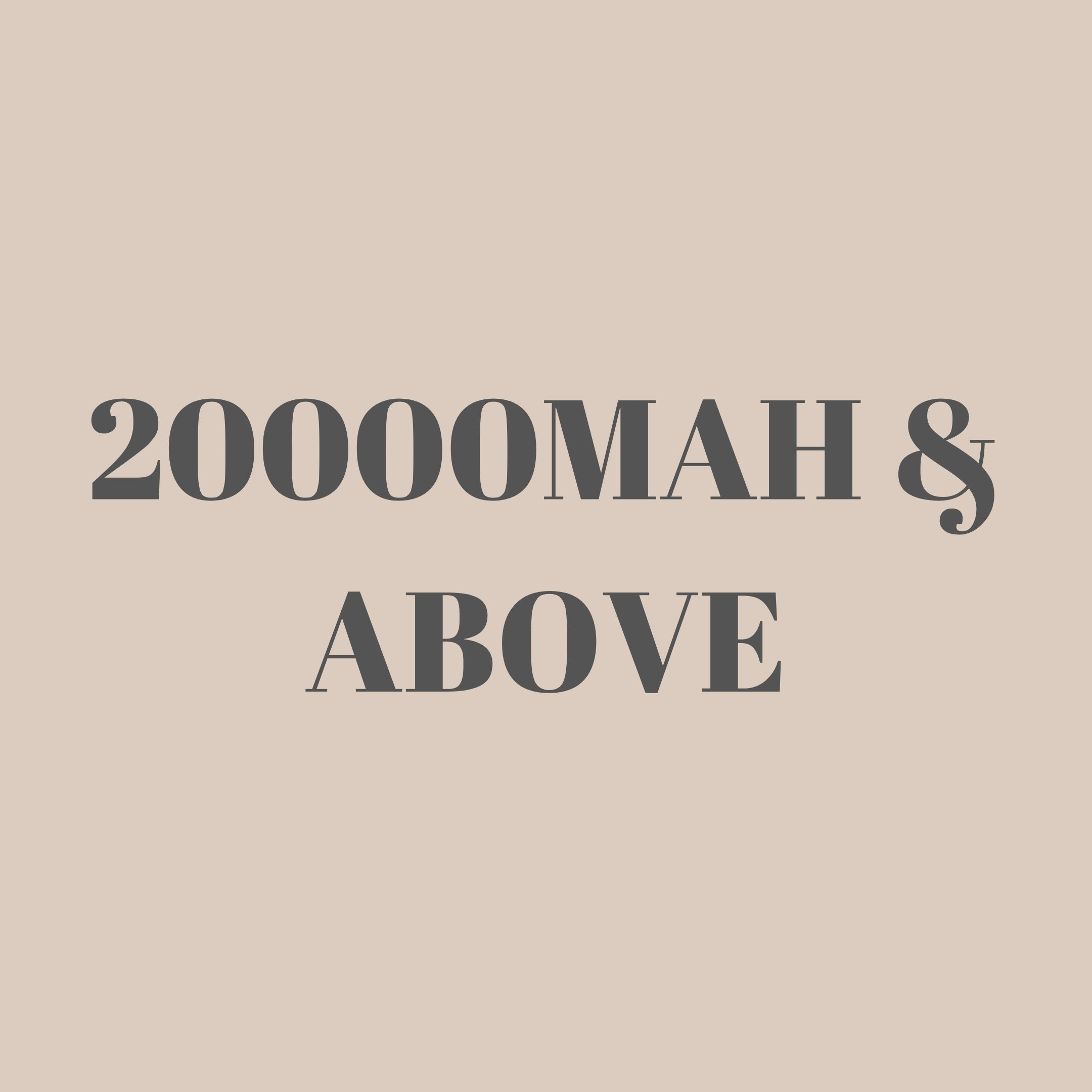 Powerbank 20000mAh & above